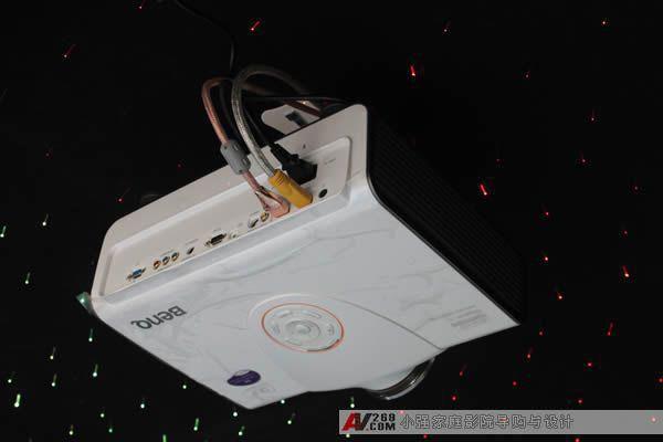 明基家用投影机w5500投影机安装效果实例