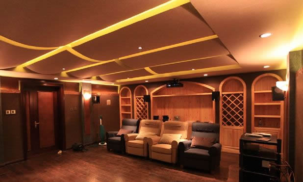 别墅影院家庭影院视听室装修声学设计施工-钱眼产品