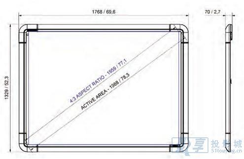 关于幕布尺寸的换算公式(估算)