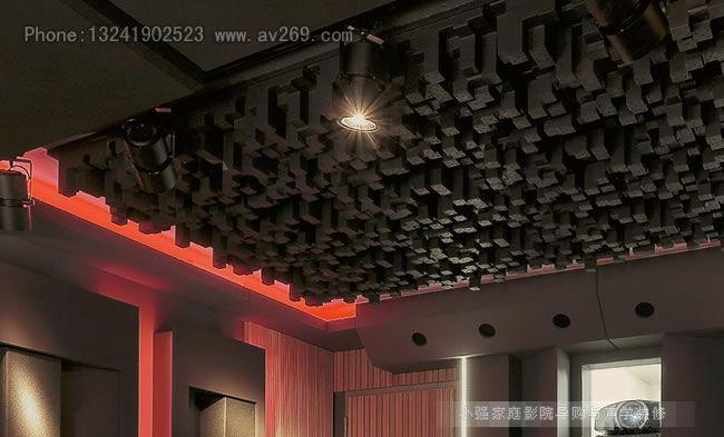 家庭影院影音室安装扩散体