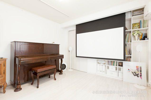 客厅首选kef3005多声道音箱和爱普生3d投影机案例