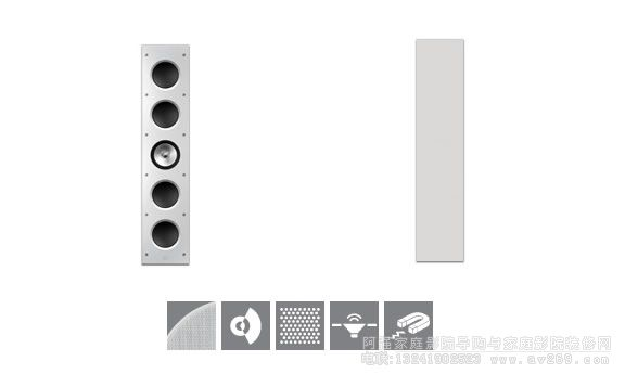 KEF音箱Ci5160RL-THX 嵌入式音箱