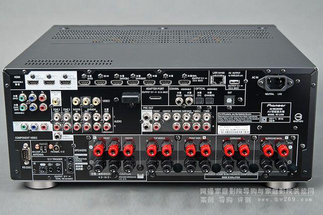 先锋LX58功放后部接线端子