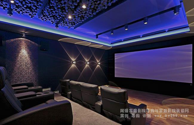 JBL专业级音响应用于独立的私人影院空间 别墅地下室影音案例