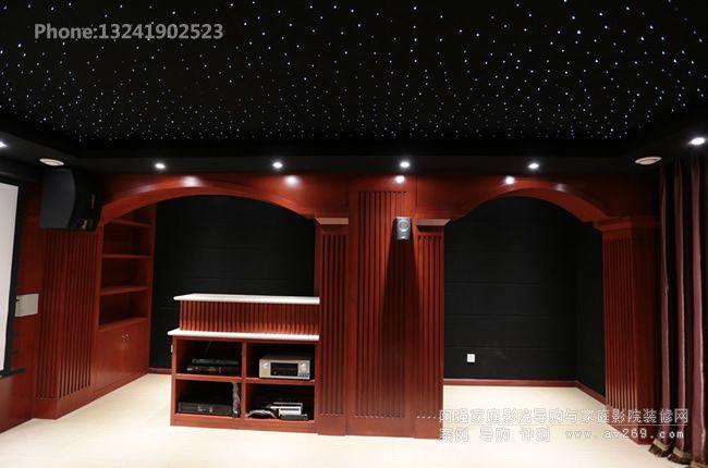 家庭影院设备柜与吧台融为一体
