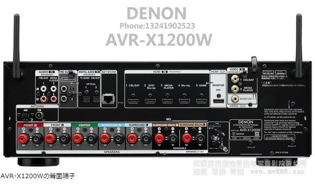 DENON AVR-X1200W背面接线端子