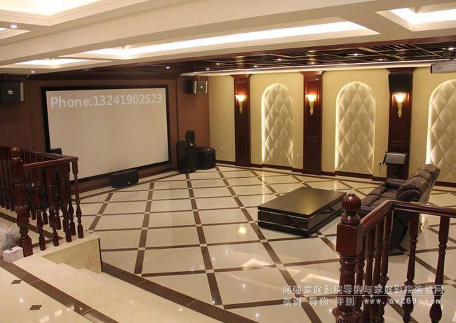 开放式家庭影院装修设计案例欣赏 北京别墅影院装修工程