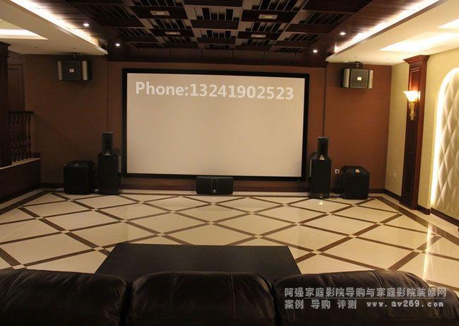 JBL音箱组建的高档私人家庭影院空间