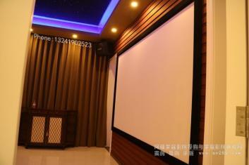 高端私人影院等影音空间里面的OS幕布应用
