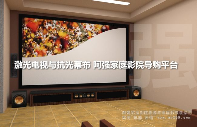 激光电视用的抗光幕布安装案例