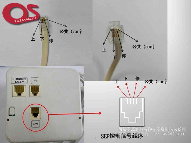 OS电动幕布 SEP控制信号线序