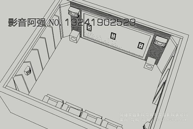 家庭影院设计图 家庭影院装修设计示意图