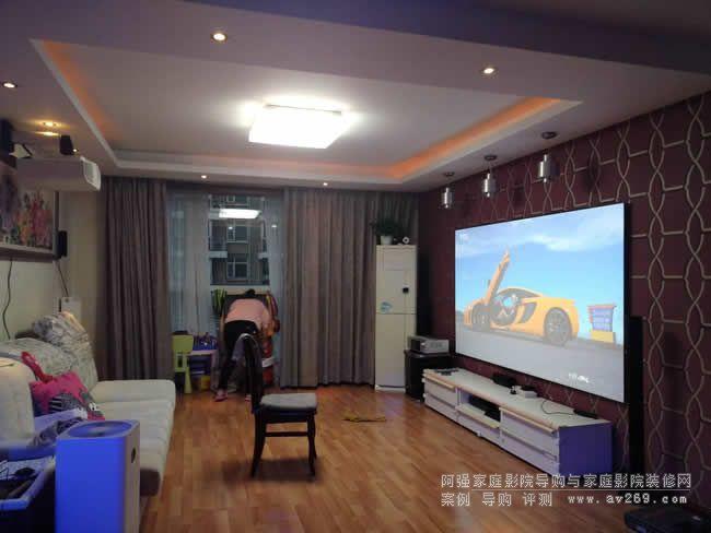 4K客厅影院之索尼VW268投影机和JK超窄边幕布