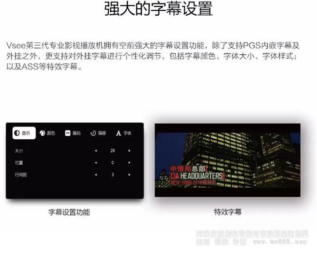 旗舰播放机Vsee UH600归来专业影视播放器- 阿强家庭影院网