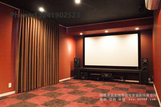 索尼4K投影机组建的家庭影院案例 索尼VW558投影机