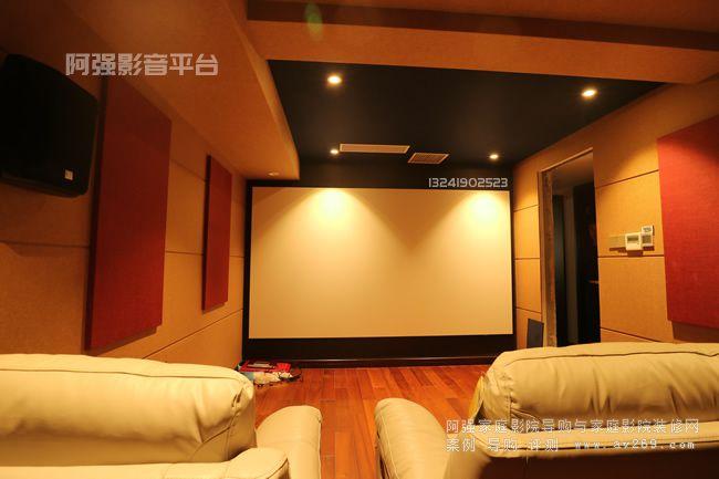 艳澜新宸别墅影院案例 复杂小空间多功能家庭影院工程欣赏