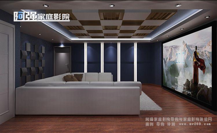 北京财富公馆别墅家庭影院设计效果图