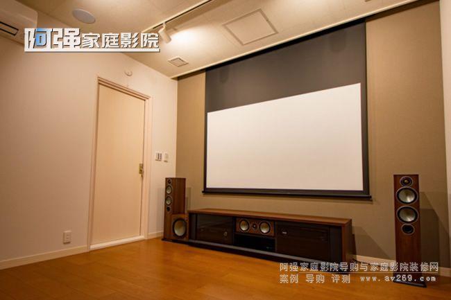 小空间杜比全景声5.2.2的4K 3D家庭影院设计