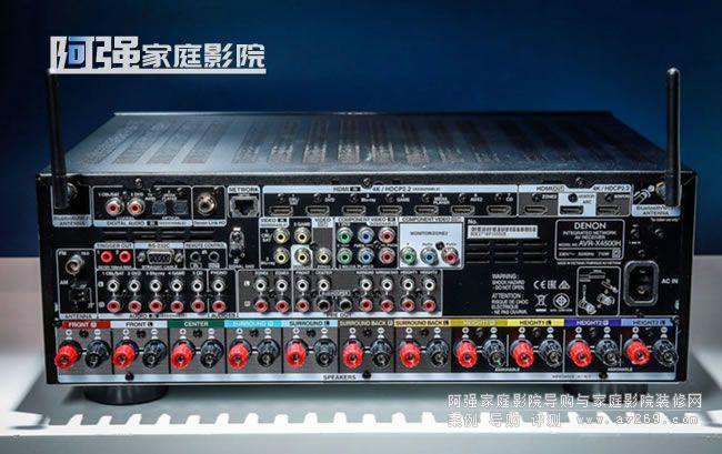 天龙功放X4500H背面接线端子