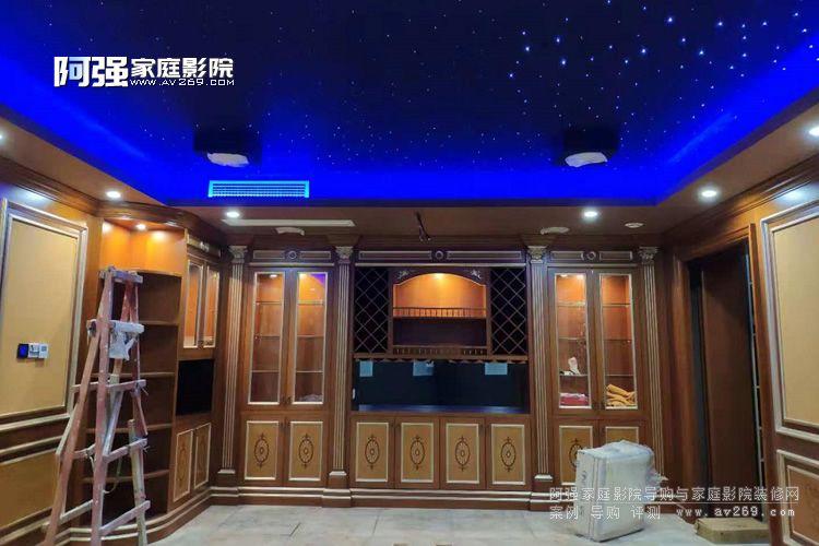 中海尚湖别墅影院工程现场