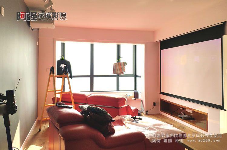 北京客厅影院日本OS电动投影幕布应用案例