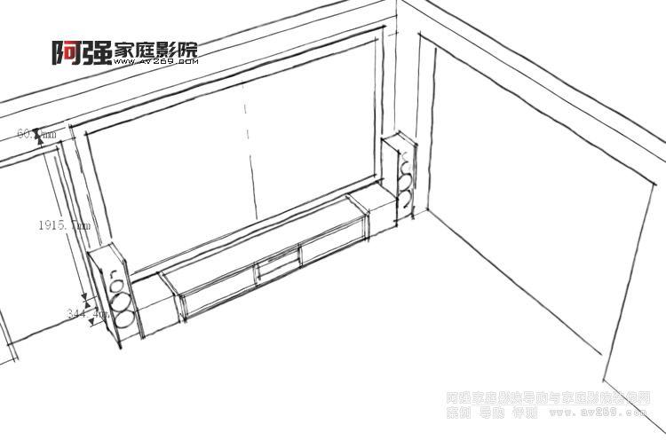 客厅影院前期规划图