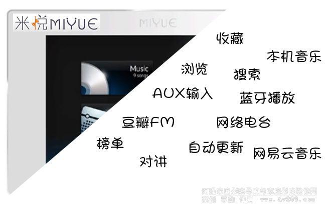 米悦家庭背景音乐系统M310B功能介绍与使用说明大全