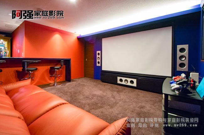 小空间KEF嵌入式音箱家庭影院系统案例